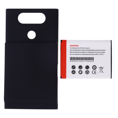 RUNDAS BL-44E1F 7000mAh Replacement Mobile Phone Battery & Cover Back Door for LG V20(Black)