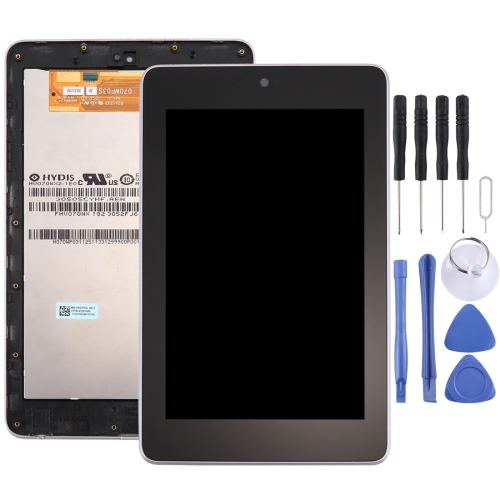 LCD Screen and Digitizer Full Assembly with Frame for Google Nexus 7 (1st Generation WiFi Version) (Black)