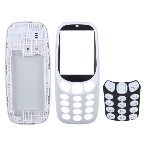 Full Assembly Housing Cover with Keyboard for Nokia 3310(Grey)