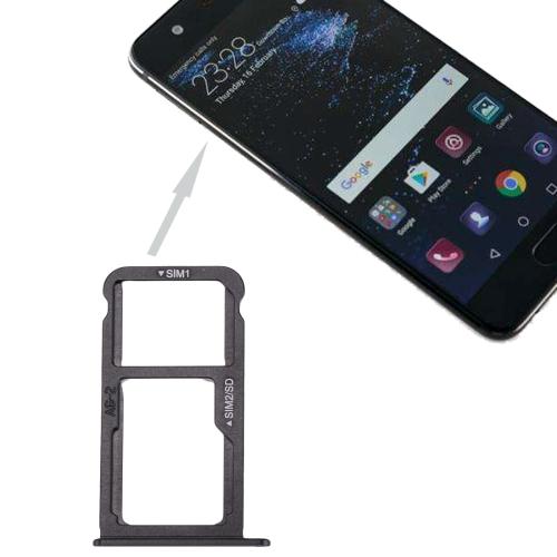 For Huawei P10 SIM Card Tray & SIM / Micro SD Card Tray(Black)