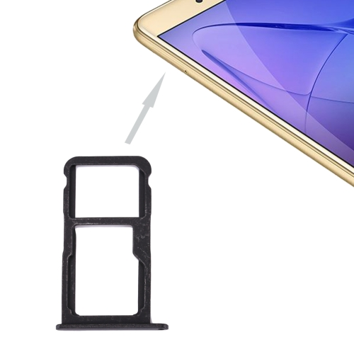 Huawei Honor 8 Lite / P8 Lite 2017 SIM Card Tray & SIM / Micro SD Card Tray(Black)