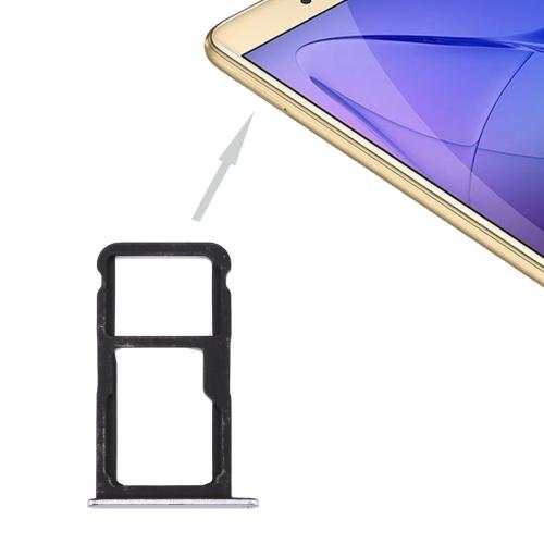 For Huawei Honor 8 Lite / P8 Lite 2017 SIM Card Tray & SIM / Micro SD Card Tray(White)