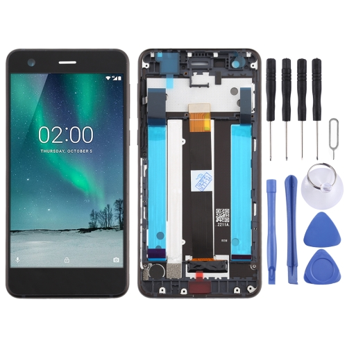 LCD Screen and Digitizer Full Assembly with Frame & Side Keys for Nokia 2 N2 TA-1007 TA-1029 TA-1023 TA-1035 TA-1011(Black) фото