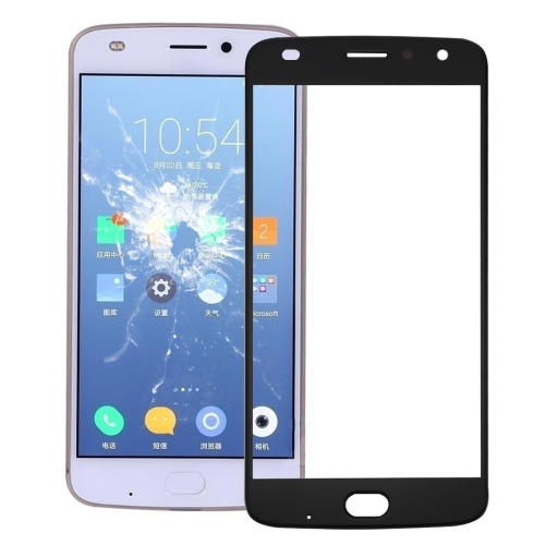 Front Screen Outer Glass Lens for Motorola Moto Z2 Play (Black)