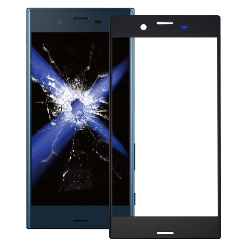 Front Screen Outer Glass Lens for Sony Xperia XZ (Black)