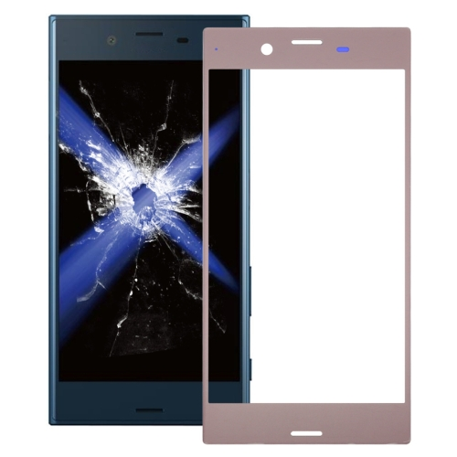 Front Screen Outer Glass Lens for Sony Xperia XZ(Rose Gold)