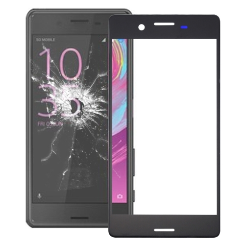 Front Screen Outer Glass Lens for Sony Xperia X (Black)