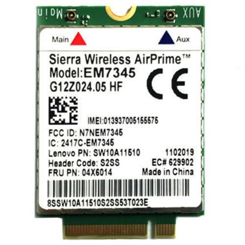 EM7345 4G Module NGFF M.2 WWAN Card 04 x 6014 4G LTE / HSPA + 42Mbps Card for Lenovo IBM / ThinkPad T450 / X240