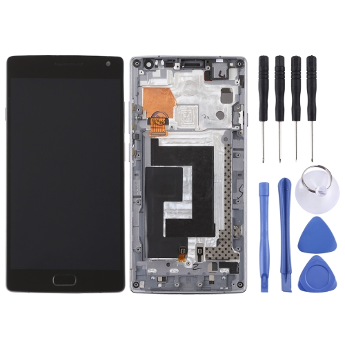 LCD Screen and Digitizer Full Assembly with Frame for OnePlus 2 / A2001(Black)