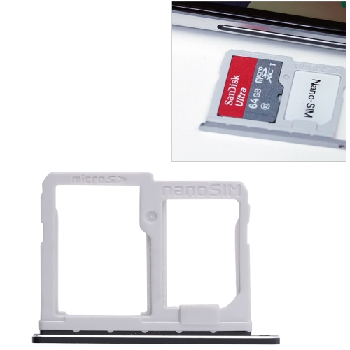 SIM Card Tray + Micro SD Card Tray for LG Q6 / M700 / M700N / G6 Mini(Black)