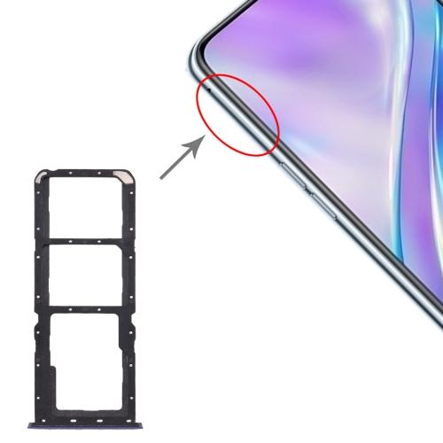 SIM Card Tray + SIM Card Tray + Micro SD Card Tray for OPPO Realme X2 (Purple)