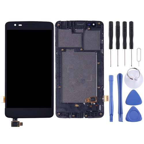 LCD Screen and Digitizer Full Assembly with Frame for LG K8 2017 Dual SIM X240 X240H X240F X240K(Black)