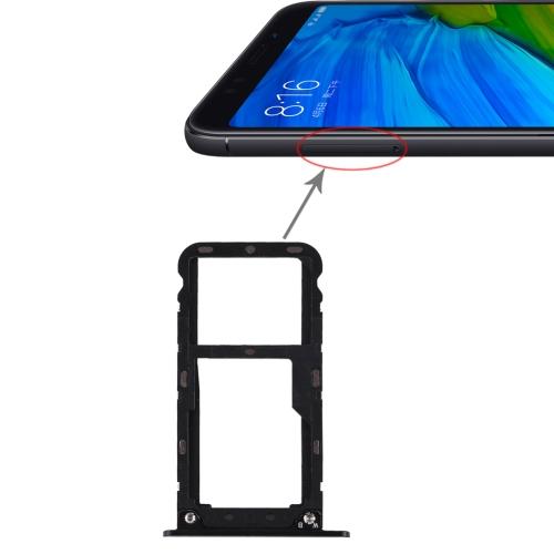 2 SIM Card Tray / Micro SD Card Tray for Xiaomi Redmi 5 Plus(Black)