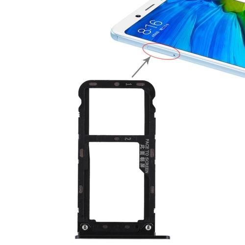 2 SIM Card Tray / Micro SD Card Tray for Xiaomi Redmi Note 5(Black)