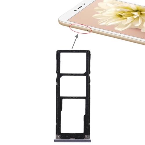 2 SIM Card Tray + Micro SD Card Tray for Xiaomi Redmi Note 5A(Grey)