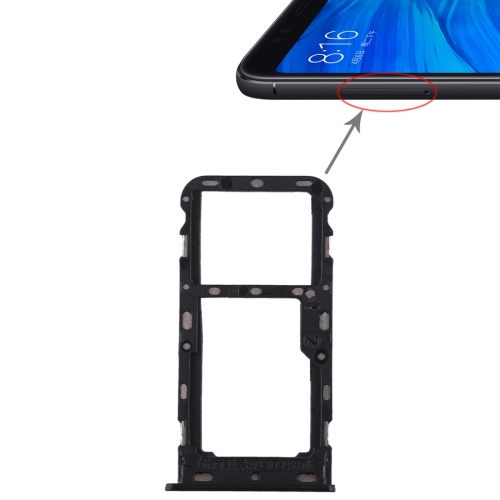 2 SIM Card Tray / Micro SD Card Tray for Xiaomi Redmi 5(Black)