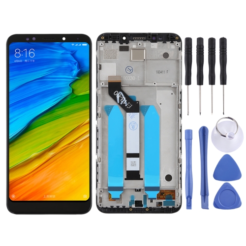 LCD Screen and Digitizer Full Assembly with Frame for Xiaomi Redmi 5 Plus(Black)