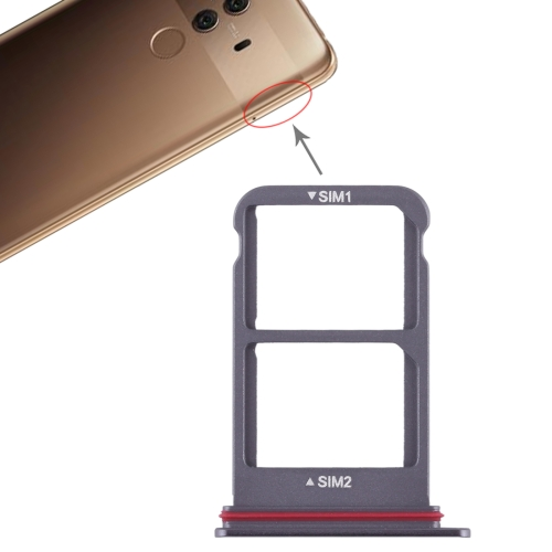SIM Card Tray + SIM Card Tray for Huawei Mate 10 Pro (Black)