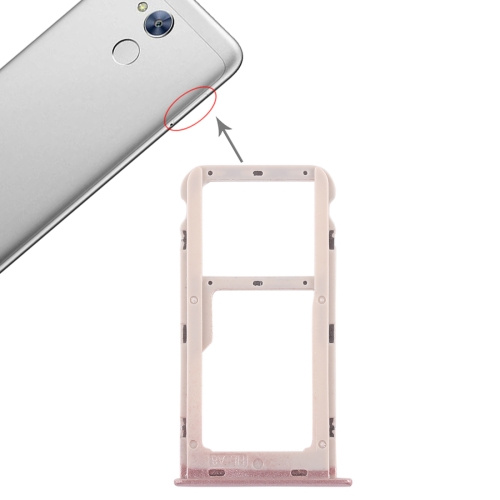 SIM Card Tray + SIM Card Tray / Micro SD Card Tray for Huawei Honor 6A (Pink) 100pcs opener ejector sim card tray tool open eject pin for mobile phone