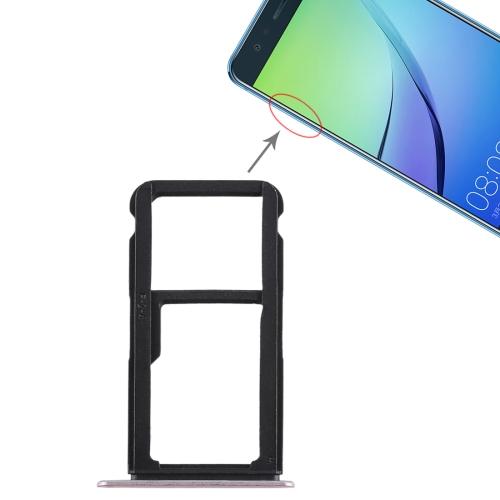 SIM Card Tray + SIM Card Tray / Micro SD Card Tray for Huawei Nova Lite (Pink)