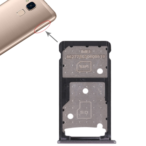 SIM Card Tray + SIM Card Tray / Micro SD Card Tray for Huawei Honor 5c (Grey)
