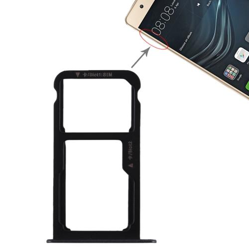 SIM Card Tray + SIM Card Tray / Micro SD Card for Huawei P9 Lite(Black)