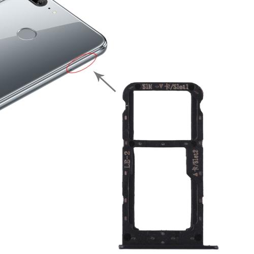 SIM Card Tray + SIM Card Tray / Micro SD Card for Huawei Honor 9 Lite(Black)