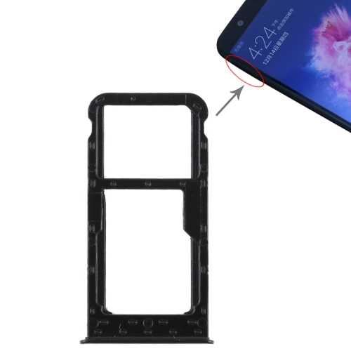 SIM Card Tray + SIM Card Tray / Micro SD Card for Huawei P smart (Enjoy 7S) (Black) 100pcs opener ejector sim card tray tool open eject pin for mobile phone