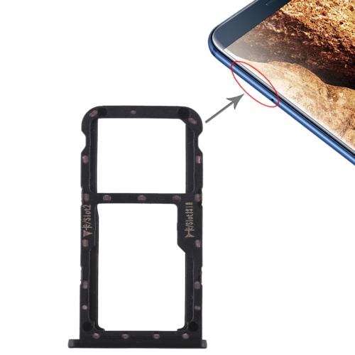 SIM Card Tray + SIM Card Tray / Micro SD Card for Huawei Maimang 6(Black)