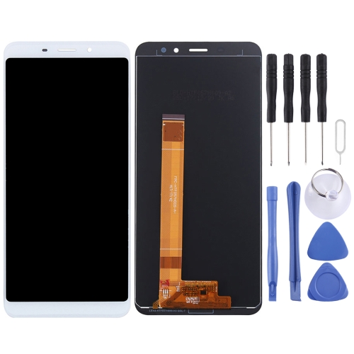 LCD Screen and Digitizer Full Assembly for Meizu Meilan S6(White)