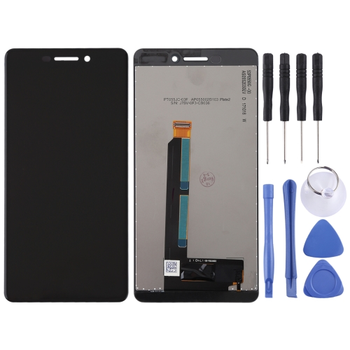 LCD Screen and Digitizer Full Assembly for Nokia 6 (Second Generation)(Black)