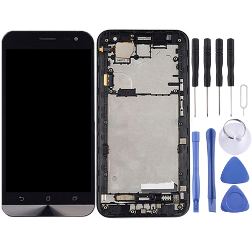 LCD Screen and Digitizer Full Assembly with Frame for ASUS Zenfone 2 Laser ZE500KL ZE500KG Z00ED(Black)