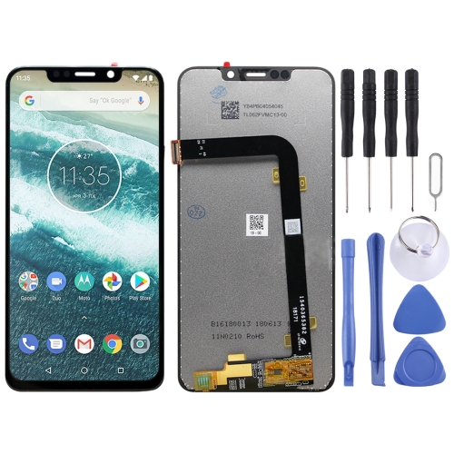 P30 Note Black XIAOMIN LCD Screen and Digitizer Full Assembly for Motorola One Power Color : Black Replacement