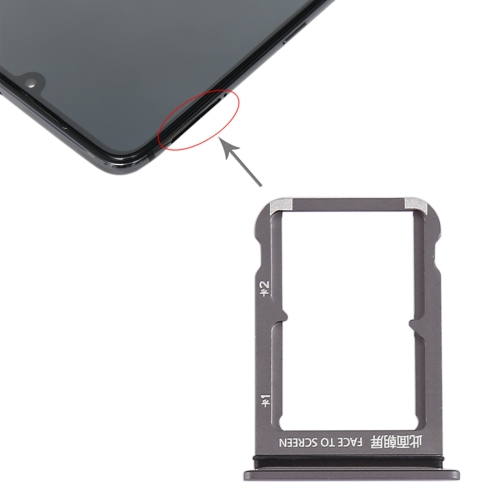 SIM Card Tray + SIM Card Tray for Xiaomi Mi 9(Grey)