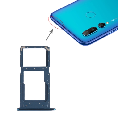 SIM Card Tray + SIM Card Tray / Micro SD Card Tray for Huawei P Smart+ (2019) (Blue)