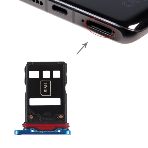 SIM Card Tray + SIM Card Tray for Huawei P30 Pro (Blue)