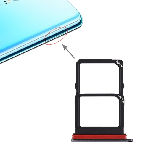 SIM Card Tray + SIM Card Tray for Huawei P30 (Black)