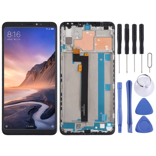 LCD Screen and Digitizer Full Assembly with Frame for Xiaomi Mi Max 3 (Black)