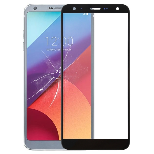 Front Screen Outer Glass Lens for LG G6(Black)