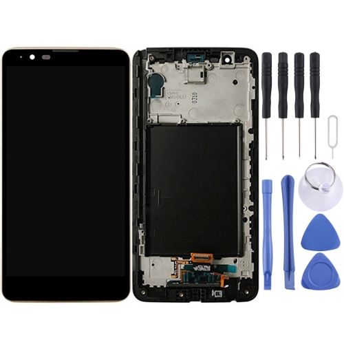 LCD Screen and Digitizer Full Assembly with Frame for LG Stylus 2 / K520 (Black)