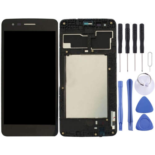 LCD Screen and Digitizer Full Assembly with Frame for LG K8 2017 US215 M210 M200N(Black)