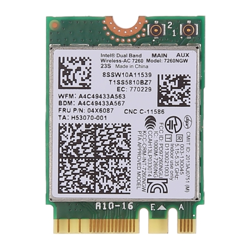 SUNSKY - Dual Band AC1200 Wireless NGFF M 2 Wifi Card 7260NGW 7260AC