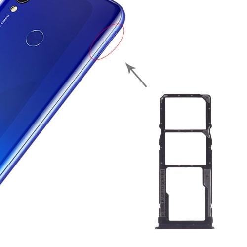 SIM Card Tray + SIM Card Tray + Micro SD Card for Xiaomi Redmi 7(Black)
