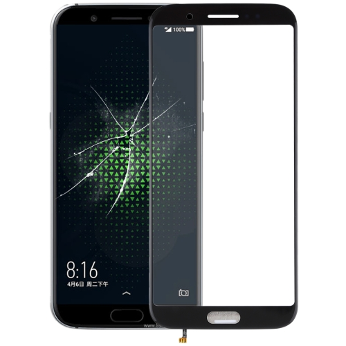 Front Screen Outer Glass Lens for Xiaomi Black Shark(Black)