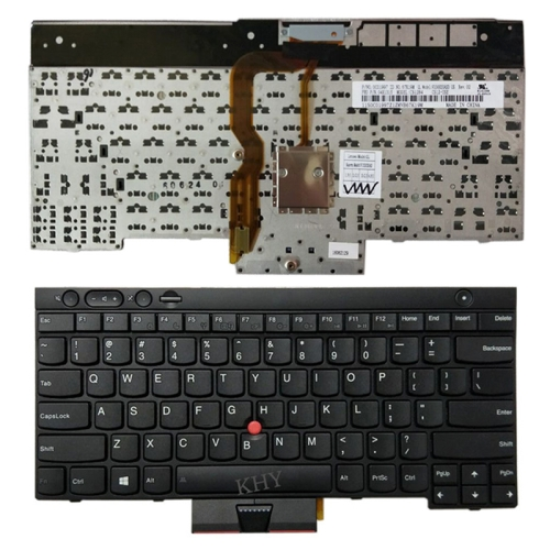 US Version English Laptop Keyboard with Pointing Sticks for Lenovo IBM Thinkpad L430 / T430 / T430i / T430S, Teclado 04X1315 / 04X1201 / 04X1277 / 0C01997