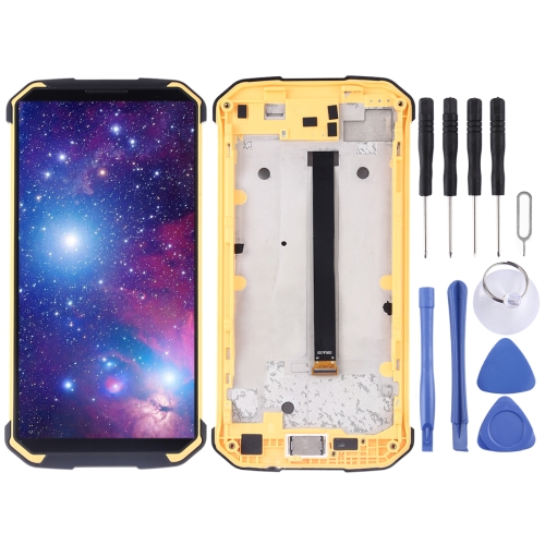 LCD Screen and Digitizer Full Assembly for Blackview BV9500(Yellow)