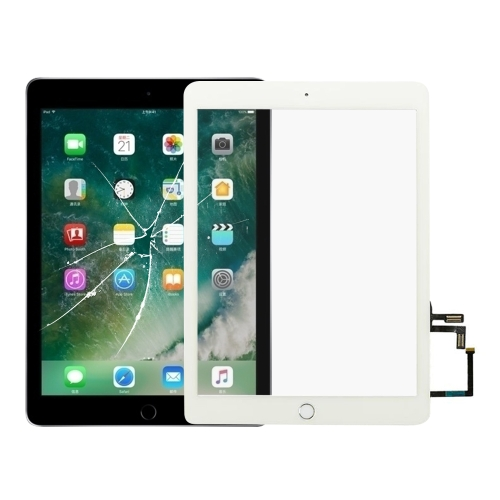 Touch Panel with Home Key Flex Cable for iPad 5 9.7 inch 2017 A1822 A1823(White)