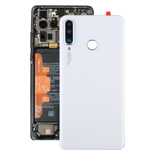 Original Battery Back Cover with Camera Lens for Huawei P30 Lite (48MP)(White)