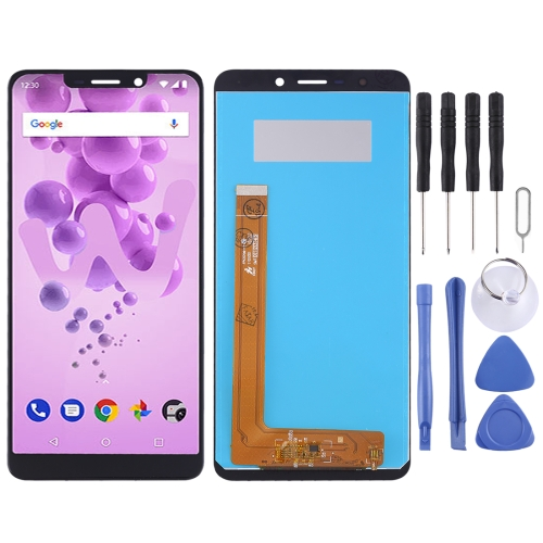 LCD Screen and Digitizer Full Assembly for Wiko View Go(Black)