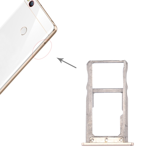 ZTE Nubia Z11 SIM Card Tray & SIM / Micro SD Card Tray(Gold)